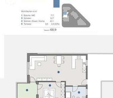 2. OG, 2,5 Zi. Wg. Helle, moderne Wohnung mit Aussicht - T5 Wohnareal - nachhaltig, innovativ