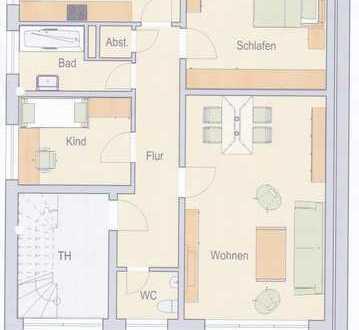 Helle, vollständig renovierte 3,5-Zimmer-Wohnung im Zentrum von Raesfeld
