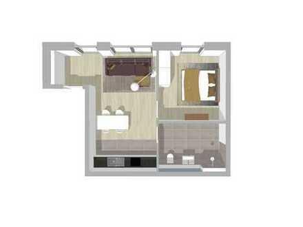 Rollstuhlgerechte 2-Zimmer Neubauwohnung (EG) mit TG in Bestlage (W1)