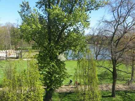 Wohnen am Park: Gehobenes Reihenendhaus mit Dachterasse, Tiefgaragenplatz und Garten