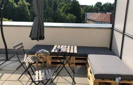 Zimmer in großer Maisonette Wohnung mit 25qm Dachterasse in Dresden/Plauen
