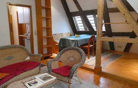 Außergewöhnliche 2-Zimmer-Dachgeschoßwohnung in Durlach