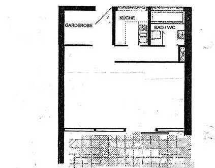 Großzügige 1-Zimmer-Wohnung in begehrter Halbhöhenlage