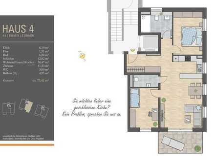 Lichtverwöhnte 3 Zi.-Whg. mit großem Wohn- und Essbereich, Südbalkon im 2. OG, H4/W6