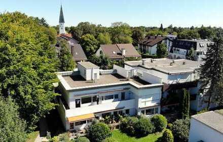 Modernisierungsbedürftige 2-Zimmer-Terrassen-Wohnung im 1.OG in toller Wohnlage von Solln