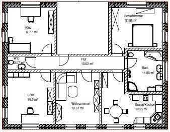 Erstbezug: schöne 4-Zimmer-Wohnung in Weidenbach