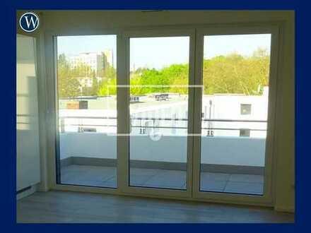 °Wohnen mit herrlicher Aussicht° neue 3 Zimmer-WE + Einbauküche, West-Balkon, Gäste-WC und Aufzug