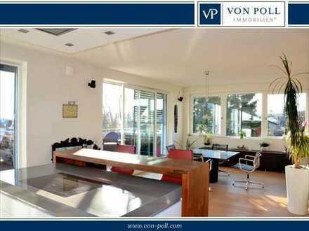 Luxuriöses Penthouse mit Lift bis in die Whg., hochwertiger Einbauküche und 2 TG-Plätzen