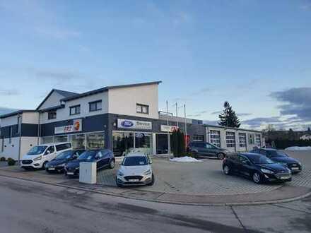 Gewerbeobjekt (Autohaus) mit Werkstatt, Wohngebäude und Photovoltaikanlage in Heroldstatt