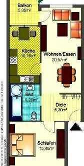 Vollständig renovierte 2-Raum-Erdgeschosswohnung mit Balkon in Östringen - Tiefenbach