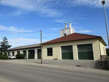 1.900 m² Werkstatt, Produktions-, Lager-, Bürogebäude nahe Augsburg zu verkaufen