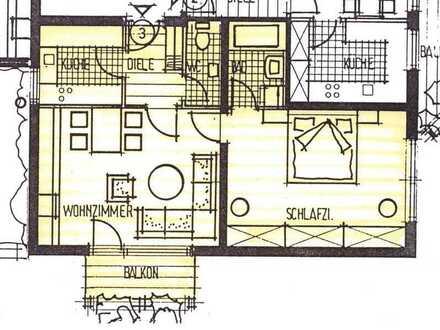 Vollständig renovierte 2-Zimmer-Wohnung mit Balkon und Einbauküche in Schramberg