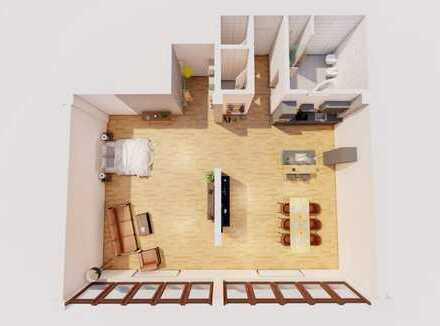 RESERVIERT - Neuwertige 1-Zimmer-Loft-Wohnung mit EBK in Heppenheim (Bergstraße)
