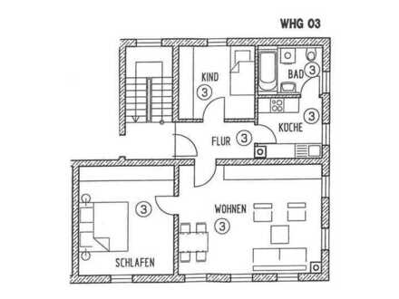 RE/MAX - In Crailsheim-Jagstheim: Attraktive 3-Zimmer-Wohnung in einem 5-Familienhaus