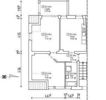 ruhige 2 Zimmer im 2. OG, Balkon mit Aussicht; große Küche mit EBK; Garage