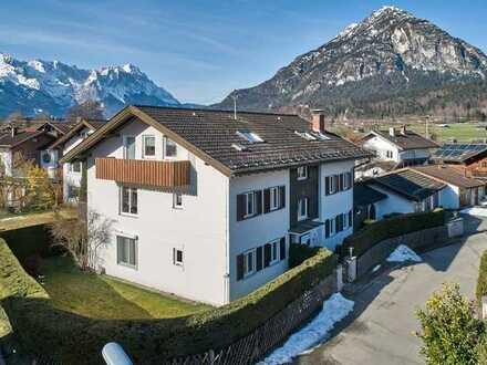 Farchant im Zugspitzland - Mehrparteienhaus mit sofort nutzbarer Eigentümerwohnung
