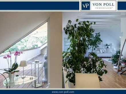 Bielefeld-Hoberge: hochwertige Maisonette-Eigentumswohnung der MEGA-Klasse auf 140 m² PLUS Empore