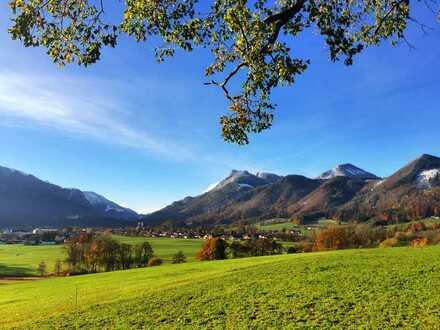 Sehr helle 2-Zimmer-Wohnung mit 2 Balkonen und tollem Bergblick in Aschau im Chiemgau