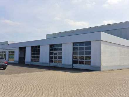 Gewerbehalle mit Hochregallager in zentralem Gewerbegebiet