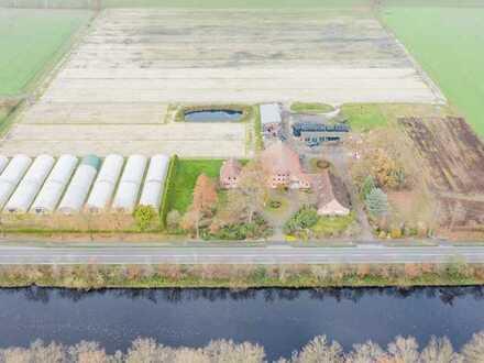 Zwei Wohngebäude und div. Nebengebäude auf ca. 7 ha Grundstücksfläche in Edewecht / Klein Scharrel