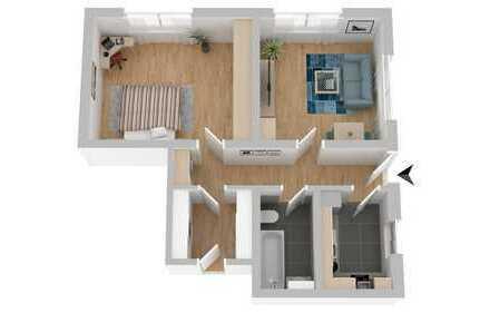 Helle 2,5-Zimmer-Souterrain-Wohnung für 2-er WG zu vermieten