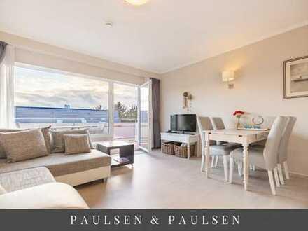 Hübsches 1-Zimmer-Appartement mit Südbalkon, Stellplatz und Kellerabteil im Herzen Wenningstedts