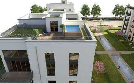 Parkend: Penthousewohnung mit 5,20 m Deckenhöhe, Dachgarten mit Skylineblick
