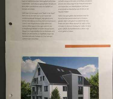 Stilvolle, neue 3-Zimmer-Erdgeschosswohnung möbliert mit Balkon und EBK in Stuttgart