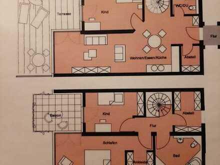 Erstbezug - wunderschöne 4-Zimmer-Maisonette-Wohnung mit Terrasse und Balkon in Nördlingen
