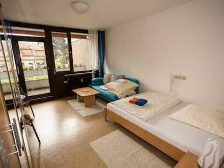 ab 1 Monat: Gästehaus Zentrum, Zimmer mit eigenen Balkon, TV, eigene Wc, Kochmgl.keit, Etagendusche