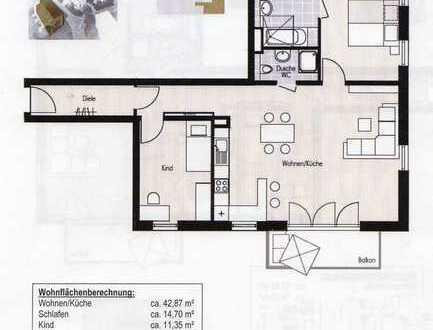 Erstbezug: exklusive 3-Zimmer-Wohnung mit Einbauküche und Balkon in Grafing bei München