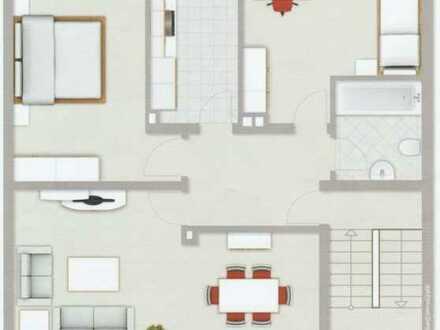 Gepflegte 3,5-Raum-Dachgeschosswohnung mit Einbauküche in Duisburg