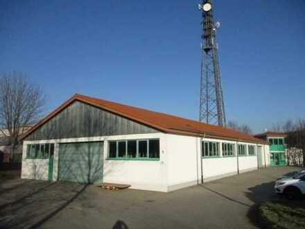 Gewerbehalle mit Büros im Industriepark an der A 4 nahe Chemnitz, Bj. 1994 * 2.010 m² Grundstück