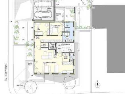 Exklusive 4,5 Zi.- Neubauwohnung mit Balkon und Aufzug in 69242 Mühlhausen