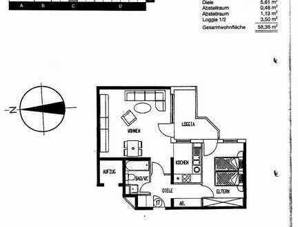 Gepflegte 2-Raum-Wohnung mit Balkon und Einbauküche in Bruchsal