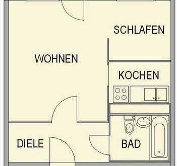 1-Raum-Wohnung zum fairen Preis