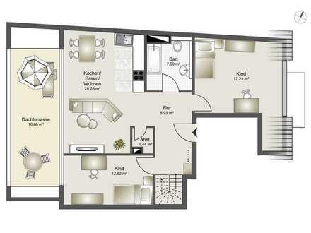 Neubau 8 Familienhaus-Zentrumsnahme ab 2,5 Zi. bis 4,5 Zi. ETW Whg. 7