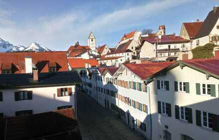 2 Zimmerwohnnung mit Blick auf das Füssener Schloss