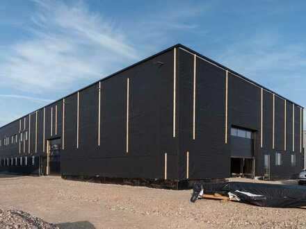 Nachhaltig. Gewerbeneubau aus Massivholz.  Hochwertige Halle, modernste Büroräume u. neueste Techn