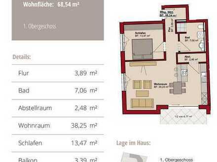 Erstbezug: stilvolle 2-Zimmer-Wohnung mit Balkon in Memmingen