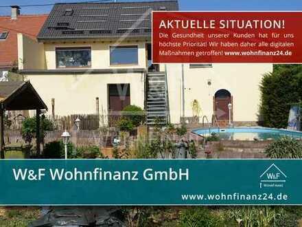 Erstbesichtigung direkt von zu Hause: 2 Häuser mit Scheune, Terrasse, Garten und Pool!