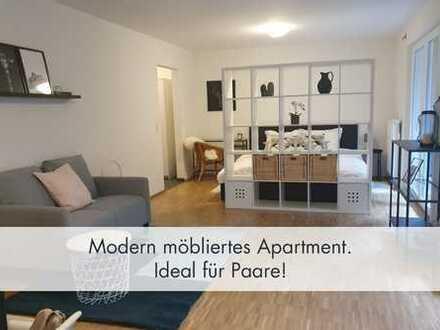 Attraktiv, geschmackvoll möblierte 1,5 - 2-Zimmer-Wohnung mit Terrasse in S-Plieningen zu vermieten!