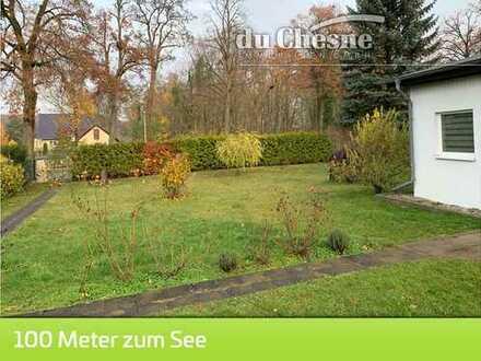 Senzig Baugrundstück direkt am Krimnicksee mit kleinem Haus