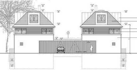 Baugrundstück mit genehmigter Planung für 2 Villen in Solln