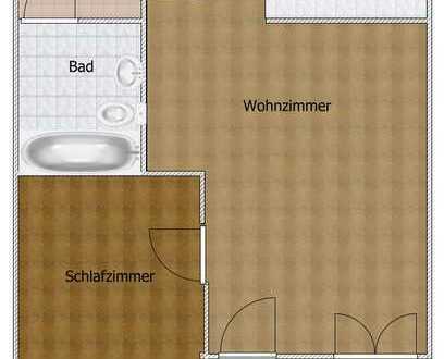 Sehr schöne 2-Zimmer-Wohnung mit Balkon und EBK