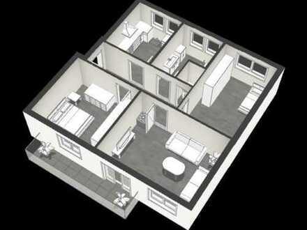 Modernisierte 3-Zimmer-Wohnung mit Balkon und Stellplatz