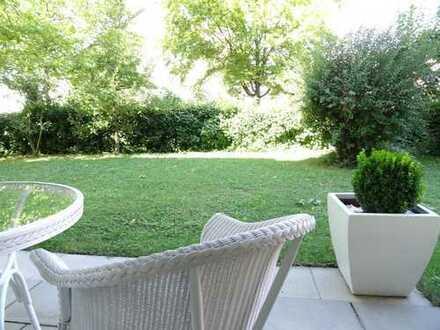 VON PRIVAT – Stylische, voll möblierte 3 Zimmer Garten-Wohnung in Stuttgart Möhringen