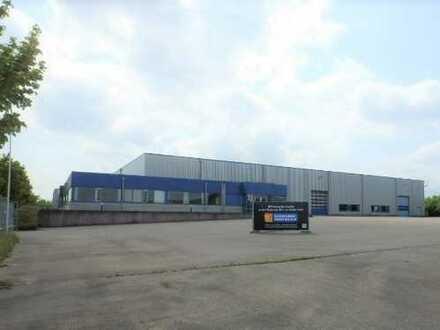 Lager-/Produktionshalle mit Büro- und Außenfläche in verkehrsgünstiger Lage Langenaus zu vermieten!