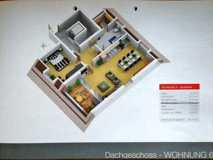 Stilvolle, neuwertige 2-Zimmer-Dachgeschosswohnung mit Loggia und Einbauküche in Aubing, München