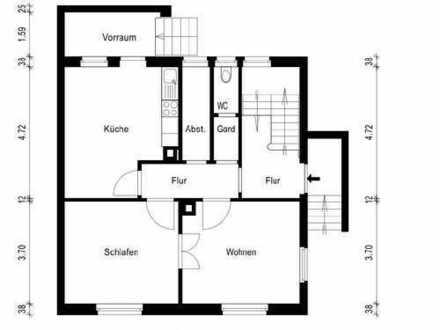 Vollständig modernisierte und renovierte 2-Zimmer-Hochparterre-Wohnung mit Balkon in Br.-Unterg.